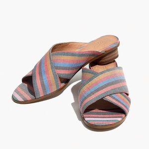 Madewell Ruthie Mule - Crisscross Stripe